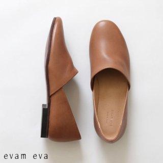 evam eva(エヴァム エヴァ)【2019ss新作】 レザースリッポン モカ / leather slipon  mocha  E191Z075