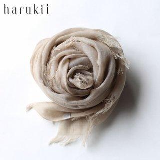 harukii ハルキ うかしガーゼストール S サンドベージュ Sand Beige 【送料無料】