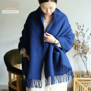 LAPUAN KANKURIT ラプアン・カンクリ ポケット付きショール UNI  blueberry ブルーベリー【送料無料】