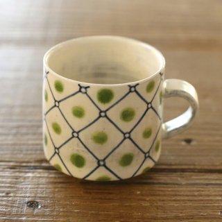 伊藤満 いとう みつる pieno 網目模様マグカップ Olive オリーブ