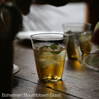 Bohemian Mouthblown  Glass ボヘミアン マウスブロウン グラス / チェコ Water Beer Glass