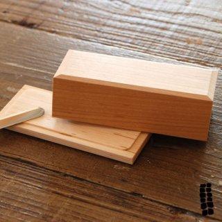東屋 バターケース 半切(200gの半分用) 四十沢(あいざわ)木材工芸 AZMAYA 猿山修 日本製