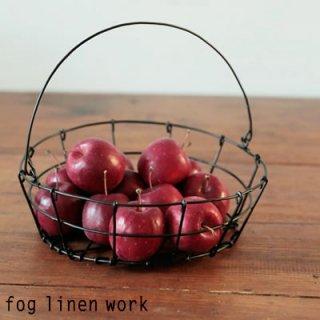 fog linen work(フォグリネンワーク) ラウンドバスケット ワイヤーバスケット 収納  IHA156