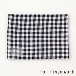 【3点までゆうパケット可】fog linen work(フォグリネンワーク) リネンキッチンクロス ネイビーホワイトチェック/ランチョンマット キッチンタオル LKC001-NAWC