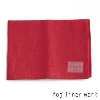 【3点までゆうパケット可】fog linen work(フォグリネンワーク) リネンキッチンクロス レッド/ランチョンマット キッチンタオル LKC001-2