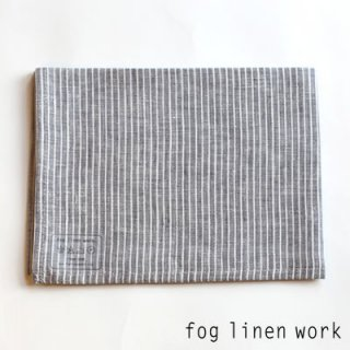 【3点までゆうパケット可】fog linen work(フォグリネンワーク) リネンキッチンクロス グレーホワイトストライプ/ランチョンマット キッチンタオル LKC001-GYWS