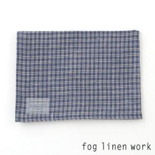 【3点までゆうパケット可】fog linen work(フォグリネンワーク) リネンキッチンクロス ネイビー格子/ランチョンマット キッチンタオル LKC001-NVPL