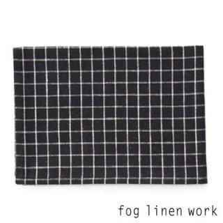【3点までゆうパケット可】fog linen work(フォグリネンワーク) リネンキッチンクロス セシル/ランチョンマット キッチンタオル LKC001-BKPL