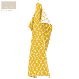 LAPUAN KANKURIT ラプアン・カンクリ ESKIMO towel (W48×H70) white-cloudberry / タオル ホワイト×クラウドベリー イエロー