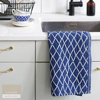 LAPUAN KANKURIT ラプアン・カンクリ ESKIMO towel (W48×H70) white-blueberry / タオル ホワイト×ブルーベリー