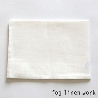 【3点までゆうパケット可】fog linen work(フォグリネンワーク) リネンキッチンクロス ホワイト/ランチョンマット キッチンタオル LKC001-19