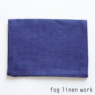【3点までゆうパケット可】fog linen work(フォグリネンワーク) リネンキッチンクロス ブルーヘリンボーン/ランチョンマット キッチンタオル LKC001-DTHE