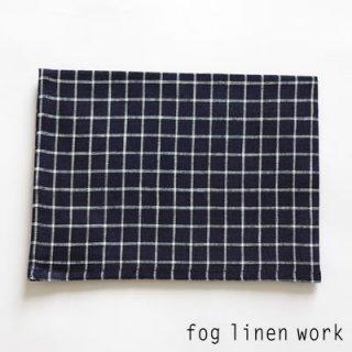 【3点までゆうパケット可】fog linen work(フォグリネンワーク) リネンキッチンクロス ジェシカ/ランチョンマット キッチンタオル LKC001-NVWHPL