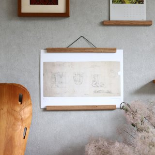 Creamore Mill  クレモア ミル Poster Hanger short 木製ポスターハンガー(W30.5cm)