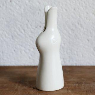 鹿児島 睦 ウサギの花器  ホワイト かごしま まこと Makoto Kagoshima JANIS Vase
