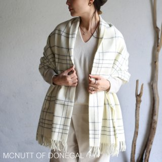 MCNUTT OF DONEGAL マクナット Supersoft Lambswool Blanket ラムズウールブランケット  / ice maze supersoft
