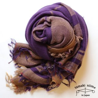 tamaki niime 玉木新雌 roots shawl wool big 02/ ルーツショール ウール ビッグ 03 【送料無料】