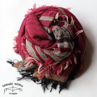 tamaki niime 玉木新雌 roots shawl wool big RSWB02/ ルーツショール ウール ビッグ 02 【送料無料】