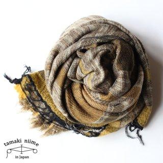 tamaki niime 玉木新雌 roots shawl wool big RSWB03/ ルーツショール ウール ビッグ 03 【送料無料】