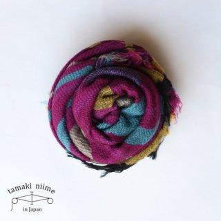tamaki niime 玉木新雌 roots shawl wool middle RSM_W71/ ルーツショール ウール ミドル 【送料無料】