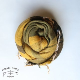 tamaki niime 玉木新雌 roots shawl wool middle RSM_W75/ ルーツショール ウール ミドル 【送料無料】