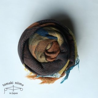 tamaki niime 玉木新雌 roots shawl wool middle RSM_W80/ ルーツショール ウール ミドル 【送料無料】