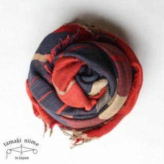 tamaki niime 玉木新雌 roots shawl wool big RSWB14/ ルーツショール ウール ビッグ 【送料無料】