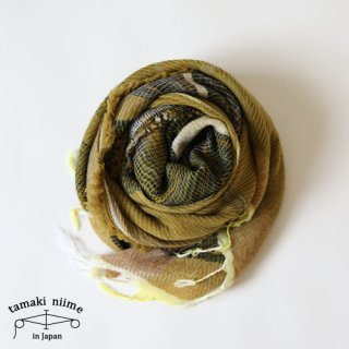 tamaki niime 玉木新雌 roots shawl wool middle RSM_W88/ ルーツショール ウール ミドル 【送料無料】