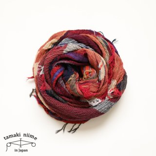 tamaki niime 玉木新雌 roots shawl cotton big 32/ ルーツショール コットン ビッグ 【送料無料】