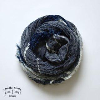 tamaki niime(タマキ ニイメ) 玉木新雌  きぶんシリーズ shawl big 2月 cotton 100%  ショールビッグ ライトインディゴカラー コットン100% 【送料無料】