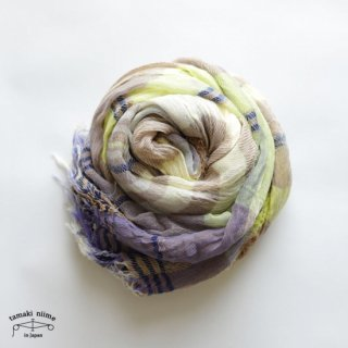 tamaki niime(タマキ ニイメ)玉木新雌 roots shawl cotton big 34 / ルーツショール コットン 100% ビッグ【送料無料】