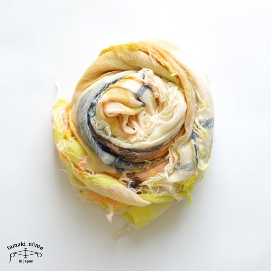 tamaki niime(タマキ ニイメ)玉木新雌 roots shawl cotton 100% big