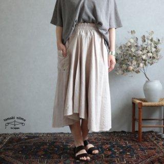 tamaki niime(タマキ ニイメ) 玉木新雌  きぶんシリーズ chotan skirt 5月 cotton 100%  チョタンスカート 草木染め すもーきーぴんく コットン100%