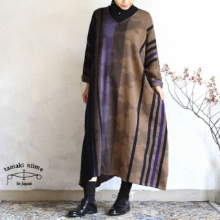 tamaki niime 玉木新雌 only one fuwa-T all wool70% cotton 30% FTA_W05 / オンリーワン フワT オール Vネック ウール【送料無料】