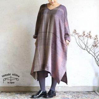 tamaki niime 玉木新雌 only one fuwa-T all wool70% cotton 30% FTA_W07 / オンリーワン フワT オール Vネック ウール【送料無料】