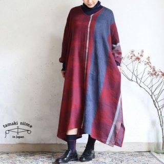 tamaki niime 玉木新雌 only one fuwa-T all wool70% cotton 30% FTA_W08 / オンリーワン フワT オール Vネック ウール【送料無料】
