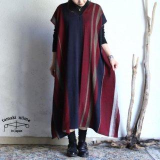 tamaki niime(タマキ ニイメ) 玉木新雌 only one fuwa-T long V wool70% cotton30% FTL_W11 / オンリーワン フワT ロング