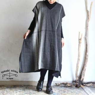 tamaki niime(タマキ ニイメ) 玉木新雌 only one fuwa-T long V wool70% cotton30% FTL_W13 / オンリーワン フワT ロング