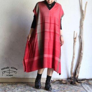 tamaki niime(タマキ ニイメ) 玉木新雌 only one fuwa-T long V wool70% cotton30% FTL_W10 / オンリーワン フワT ロング