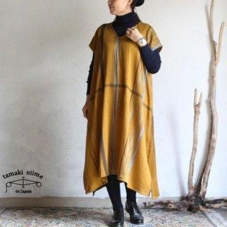 tamaki niime(タマキ ニイメ) 玉木新雌 only one fuwa-T long V wool70% cotton30% FTL_W17 / オンリーワン フワT ロング