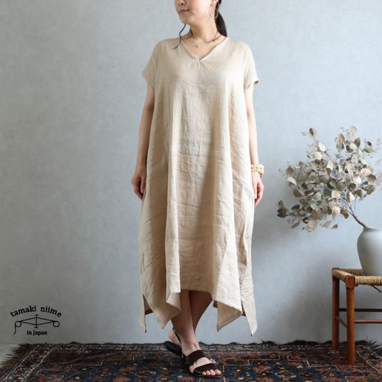 tamaki niime(タマキ ニイメ) 玉木新雌 きぶんシリーズ fuwa T LONG ナチュラル