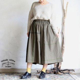 tamaki niime 玉木新雌 basic wear wide pants short khaki / ベーシック ウェア ワイドパンツ ショート カーキ【送料無料】