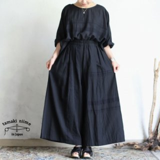 tamaki niime 玉木新雌 basic wear wide pants long black / ベーシック ウェア ワイドパンツ ロング ブラック【送料無料】