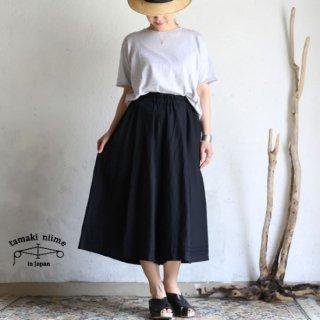 tamaki niime 玉木新雌 basic wear wide pants short black / ベーシック ウェア ワイドパンツ ショート ブラック【送料無料】