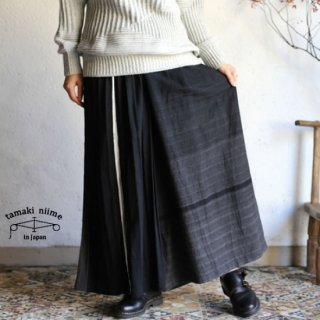 tamaki niime(タマキ ニイメ) 玉木新雌 only one wide pants LONG cotton 100% WPL_C01_2017 オンリーワン ワイドパンツ ロング
