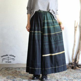 tamaki niime(タマキ ニイメ) 玉木新雌 only one wide pants LONG cotton 100% WPL04 オンリーワン ワイドパンツ ロング コットン100%