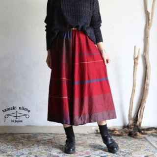 tamaki niime(タマキ ニイメ) 玉木新雌 only one wide pants SHORT wool70% cotton30% 18aw_WPS_W02 ワイドパンツ ショート ウール