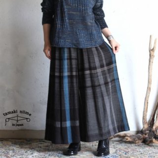 tamaki niime(タマキ ニイメ) 玉木新雌 only one wide pants LONG wool70% cotton30% 18aw_WPL_W02 ワイドパンツ ロング ウール