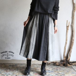 tamaki niime(タマキ ニイメ) 玉木新雌 only one wide pants SHORT wool70% cotton30% WPS_W07 ワイドパンツ ショート ウール