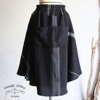 tamaki niime(タマキ ニイメ) 玉木新雌 only one chotan skirt wool CTN_W11 wool70% cotton30% チョタンスカート ウール